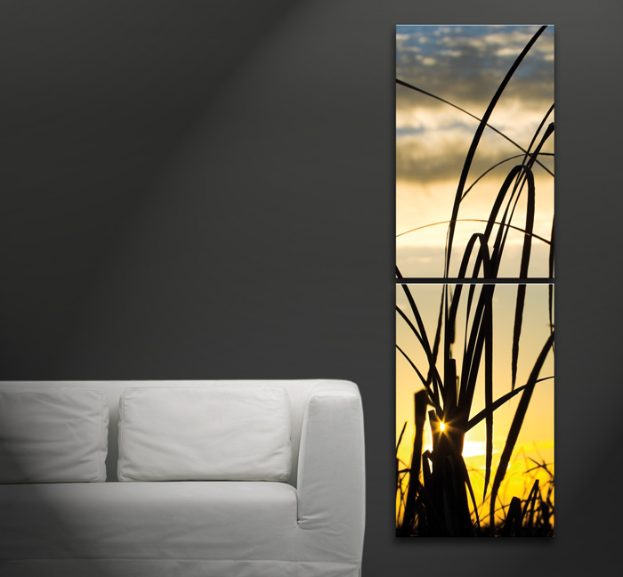 bilder leinwand sunset 50 x 160 cm auf keilrahmen ebay. Black Bedroom Furniture Sets. Home Design Ideas